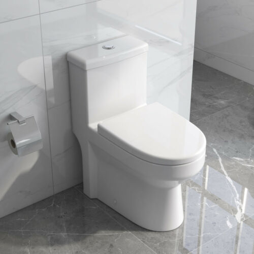 DeerValley One Piece Toilet 1.28GPF Elongated Dual Flush with Soft Closing Seat