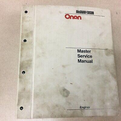 Onan Generator Genset Master Service Manual Shop Repair Troubleshooting Guide