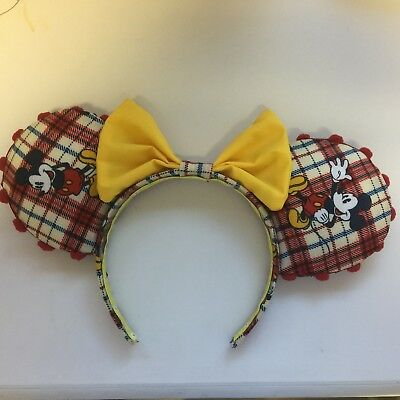 Disney Mouse Ears - A Different Image of Mickey on Each Ear