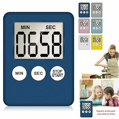 Magnetic LCD Digital Kitchen Timer Count Down Egg Cooking Clear Loud Alarm US Home & Garden