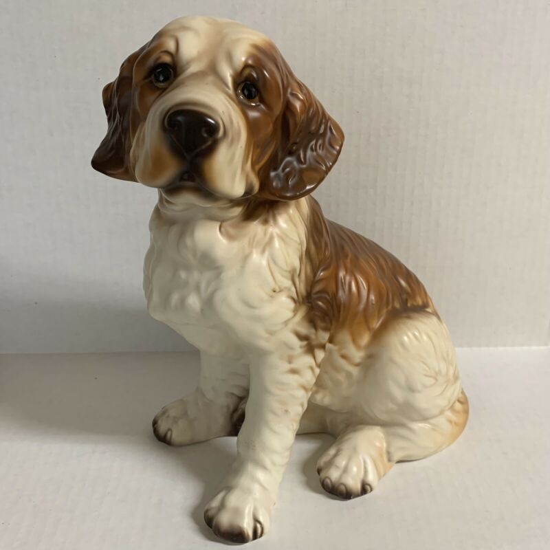 Saint Bernard Puppy Dog Figurine Vintage Japan 9.5 Tall