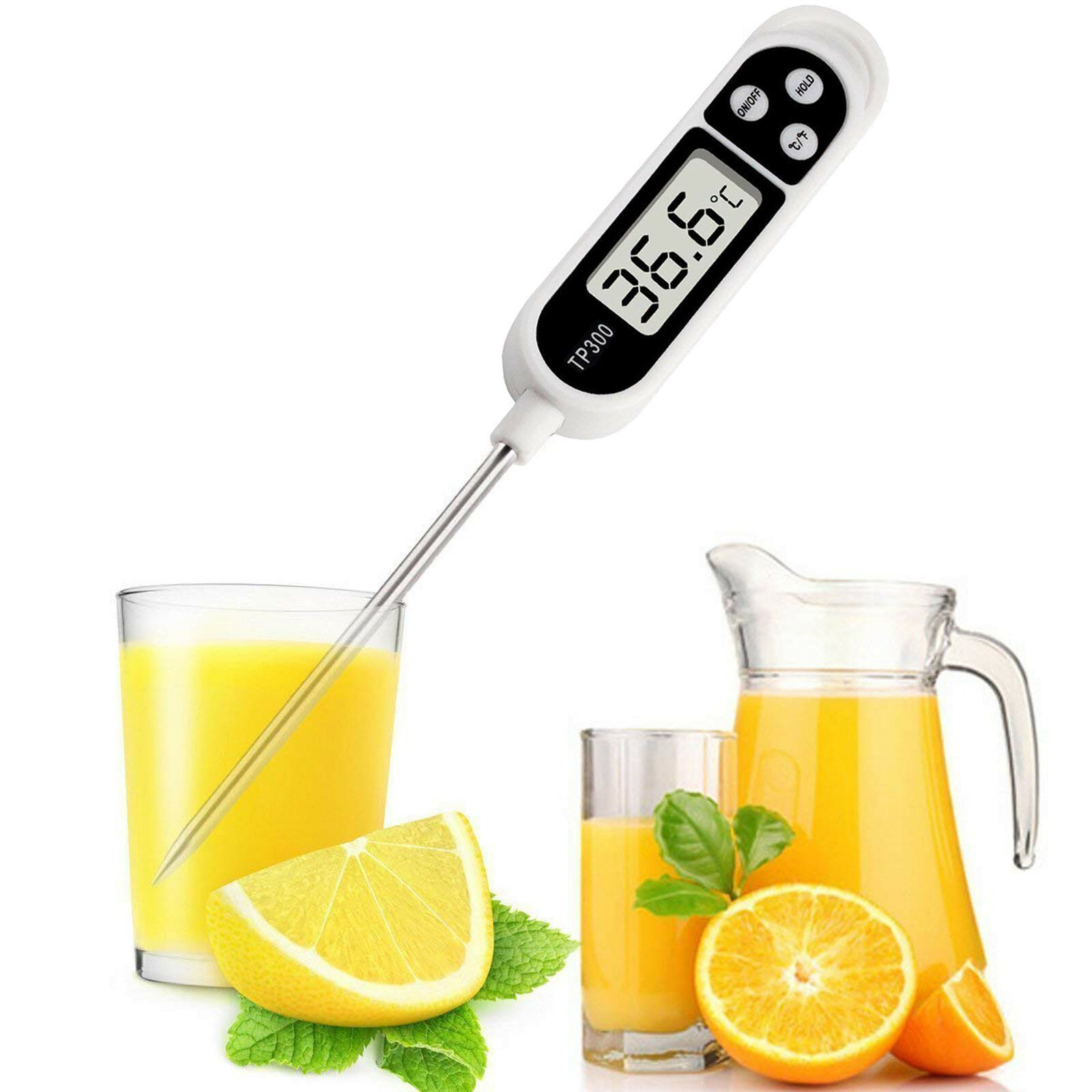 Cooking Food Thermometer Digital Instant Read Meat for Oil W