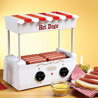 Hot Dog Roller Grill Burger Sausage Cooker Machine With Bun Warmer Hdr-565