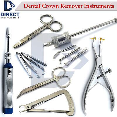 Range Of Dental Crown Remover Instruments Automatic Manual Forceps Gauge Scissor