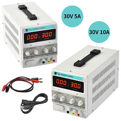 30v 10a5a Dc Power Supply Adjustable Variable Dual Led Display Digital Lab Test