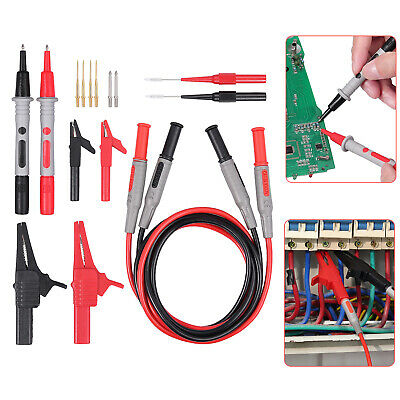 New Multimeter Test Lead Kit Electrical Alligator Crocodile Clip Test Probe Tool