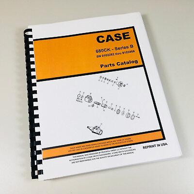 Case 680b 680ck B Construction King Loader Backhoe Parts Manual Catalog