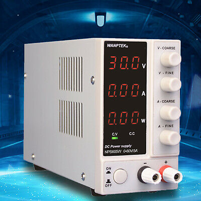 Lab Dc Power Supply Switching Regulated Power Supply Variable 0-60v 0-5a Us