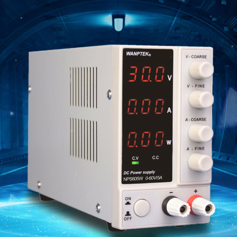 60V 5A US 110V|DC Power Supply Regulated Adjustable Digital|Lab Grade Profession