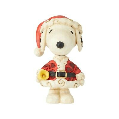 New JIM SHORE PEANUTS Snoopy Figurine SANTA DRESS HANDBELL DOG Costume Sculpture](Snoopy Dog Costume)