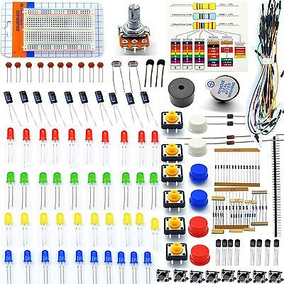 Adeept Electronic Starter Kit for Arduino Resistor Buzzer Breadboard LED cable