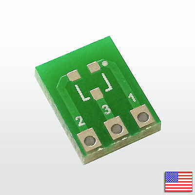 3x 3pcs Sot-23 Sot-23-3 Breakout Board Pcb Adapter Converter Smd To Dip Sip