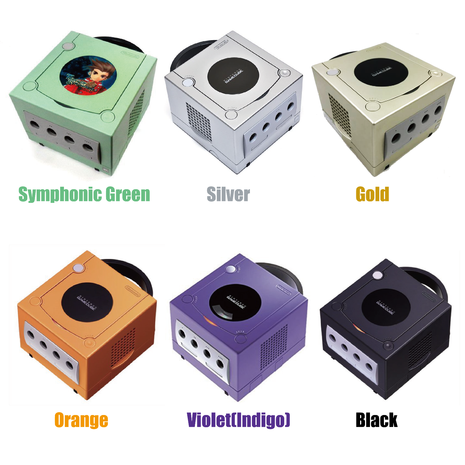 【6variations】Nintendo GameCube Console System Black Orange Violet Silver F/S