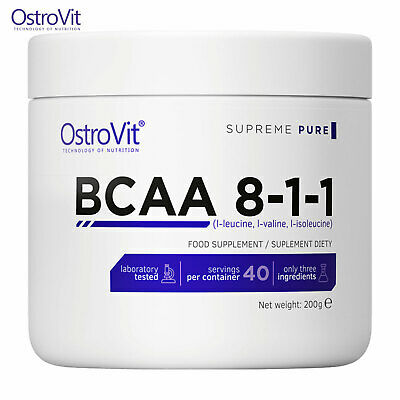 BCAA POWDER 8:1:1 200 - Highly Anabolic Best Muscle Building Amino Acids