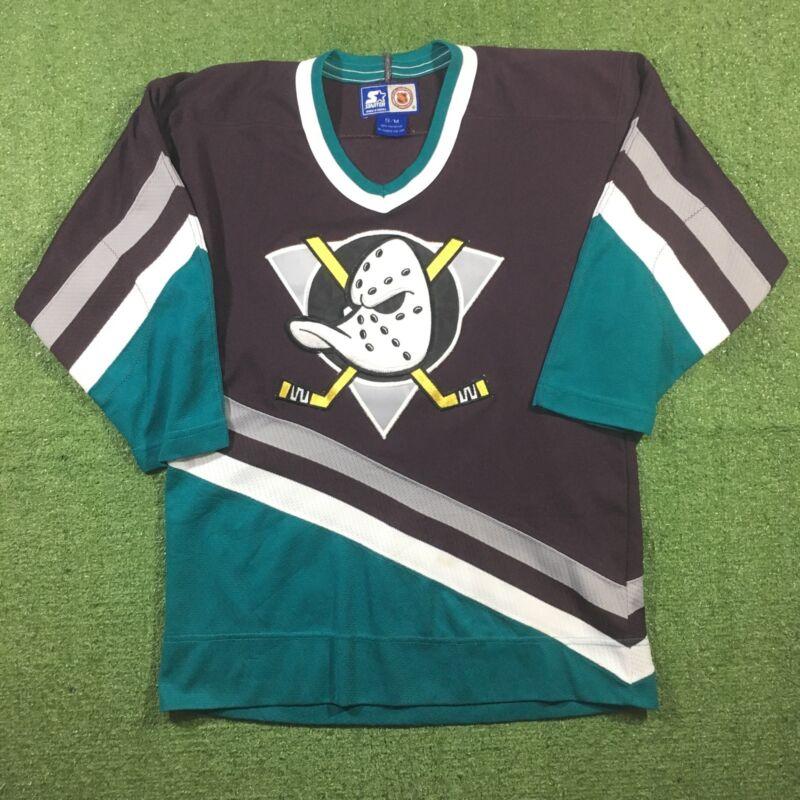 Starter Mighty Ducks of Anaheim 1995 Maglia Trikot Maillot Camisa Jersey  Hockey  3c86fd576