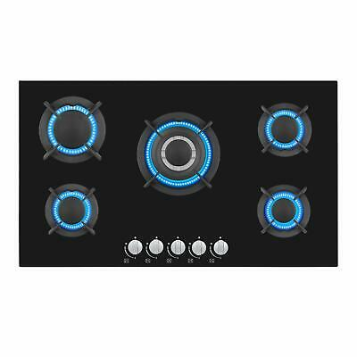 """Empava 34"""" Tempered Glass Built-in 5 Burners Stove Gas Hob F"""