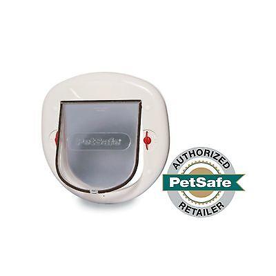 (PetSafe Big Cat Door 4-Way Locking White Interior/Exterior  PPA00-11326)