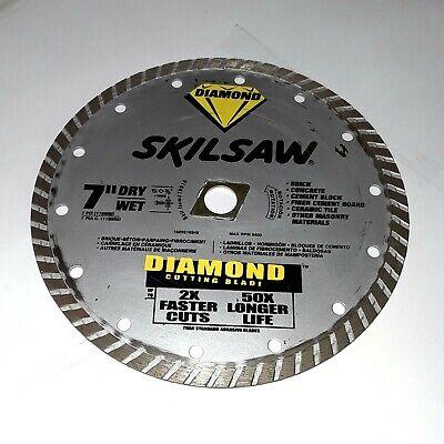 Skil 79510 7 Turbo Rim Diamond Used Circular Saw Blade Item 122p