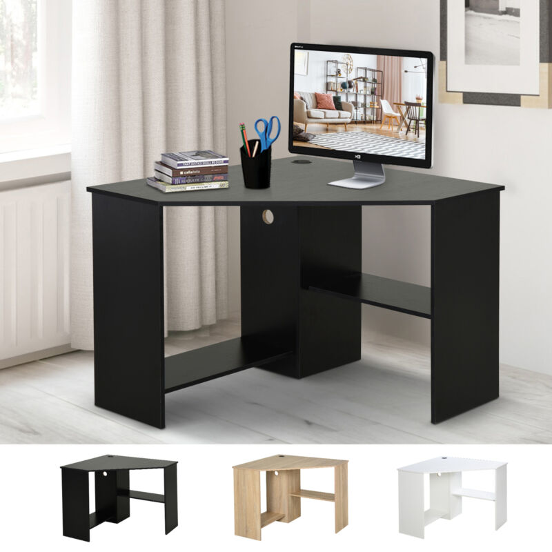 HOMCOM Multi-Tier Corner Computer Desk Writing Table for Home & Office