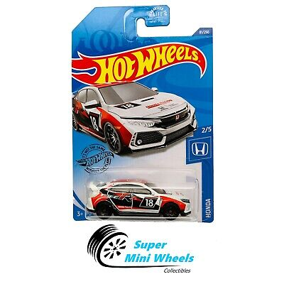 Hot Wheels 2018 Honda Civic Type R (White) Honda 2/5 2020 J Case #81
