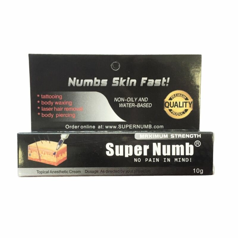 10g Super Numb skin numbing cream painless tattooing piercings waxing laser Dr