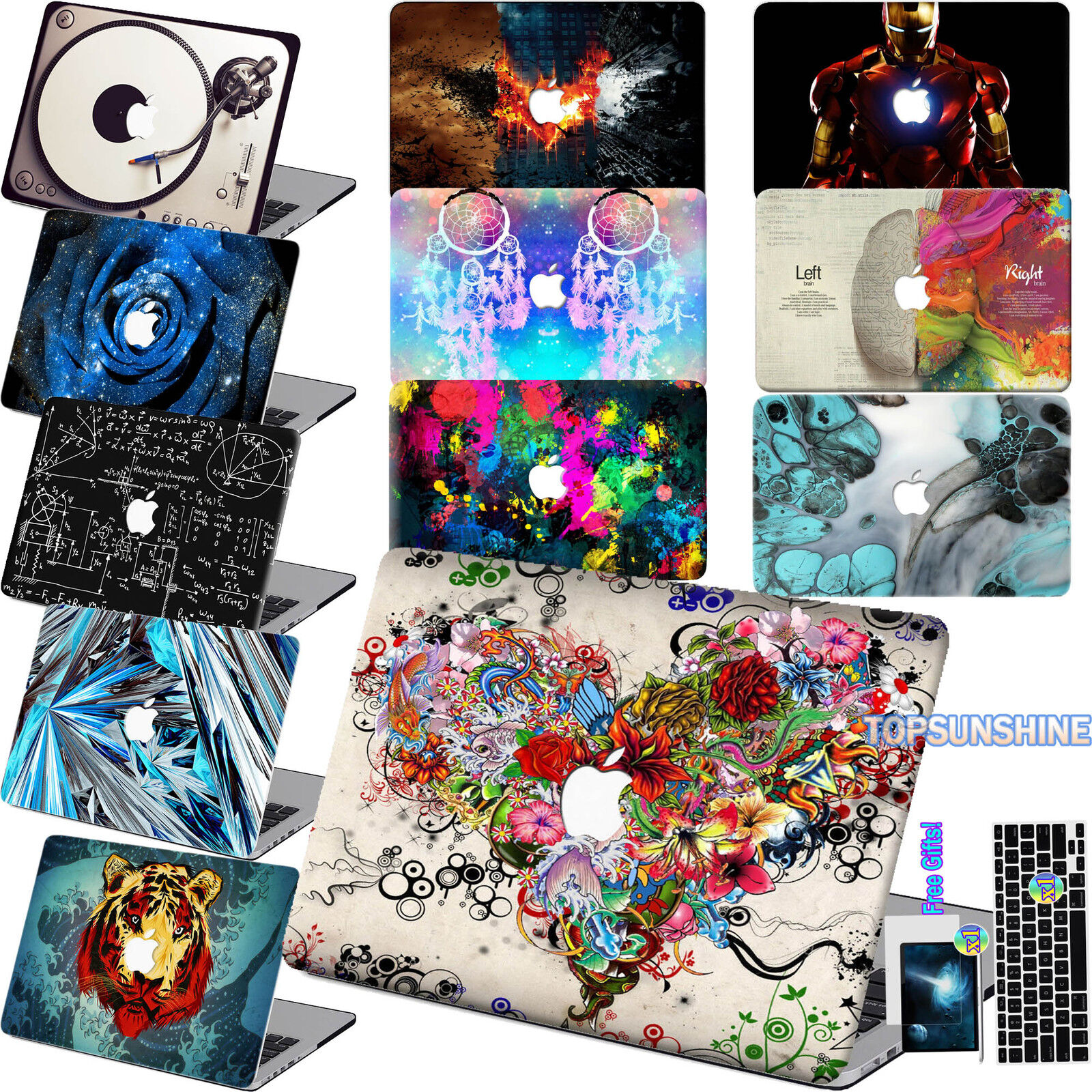 New Look Laptop Rubberized Hard Case Skin Cover For Macbook