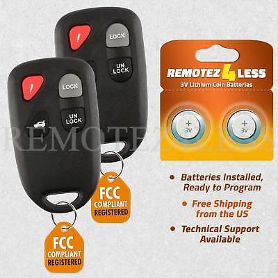 2 For 2003 2004 2005 Mazda 6 Mazda6 Keyless Entry Remote Key Fob Transmitter