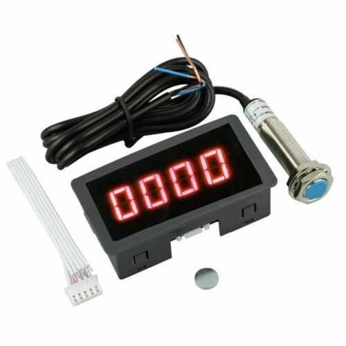 NEW Digital LED Tachometer DC Motor Speed Tester Panel Meter 10-9999RPM DC 8-24V