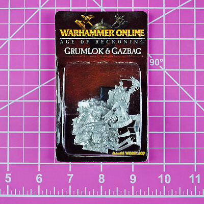 Warhammer Online Age Of Reckoning Grumlok And Gazbag Nib Metal   Games Workshop