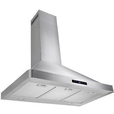 """Europe 36"""" Kitchen Wall Mount Stainless Steel Range Hood With 3  Grease Filters"""