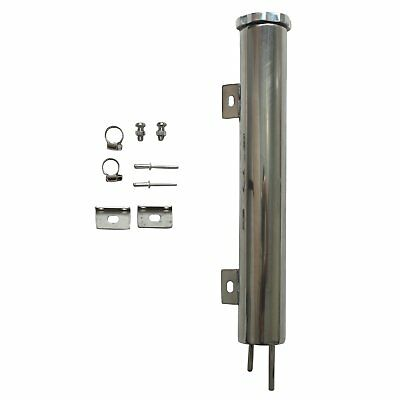 """2""""x15""""Polished Stainless Steel Radiator Universal Overflow Tank For Universal"""