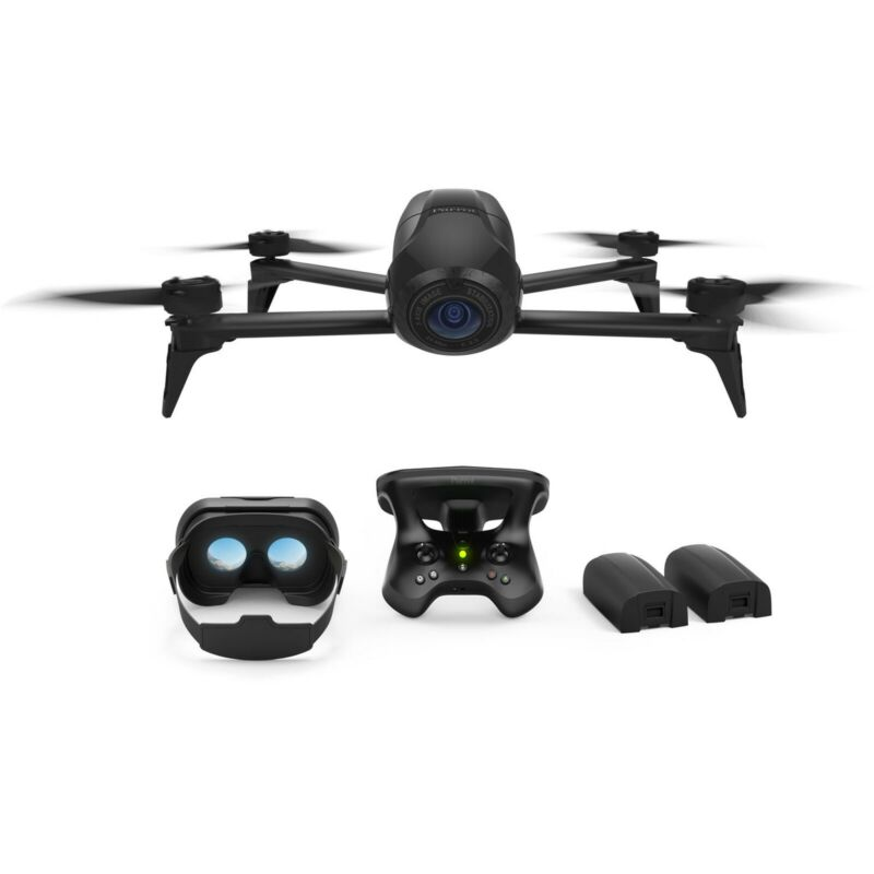 Parrot Bebop 2 Power Drone Kit with CockpitGlasses 2 & SkyController 2 (Black)