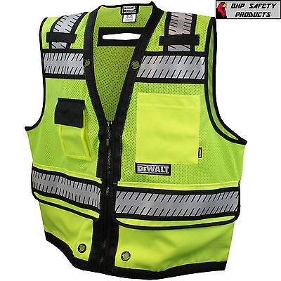 Dewalt Hi-vis Surveyor Safety Vest Class 2 Heavy Duty Dsv521 Road Construction