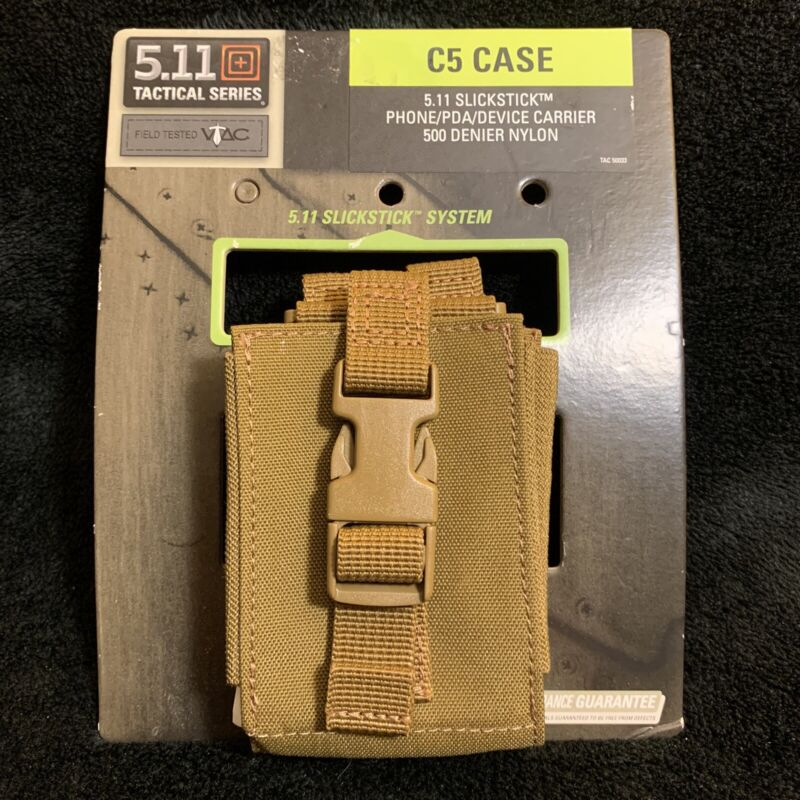 New 5.11 Tactical 56030 C5 Case - Phone/PDA/Device- Flat Dark Earth MOLLE FDE