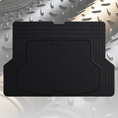 Trunk Cargo Liner Mat for Cars All Weather Rubber Black Heavy Duty (Black Trunk Mat)