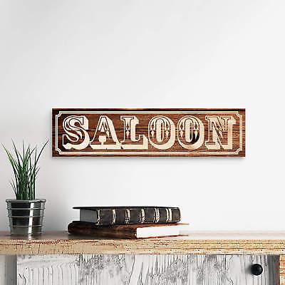 Holzschild Saloon braun Holzdeko, Deko online kaufen