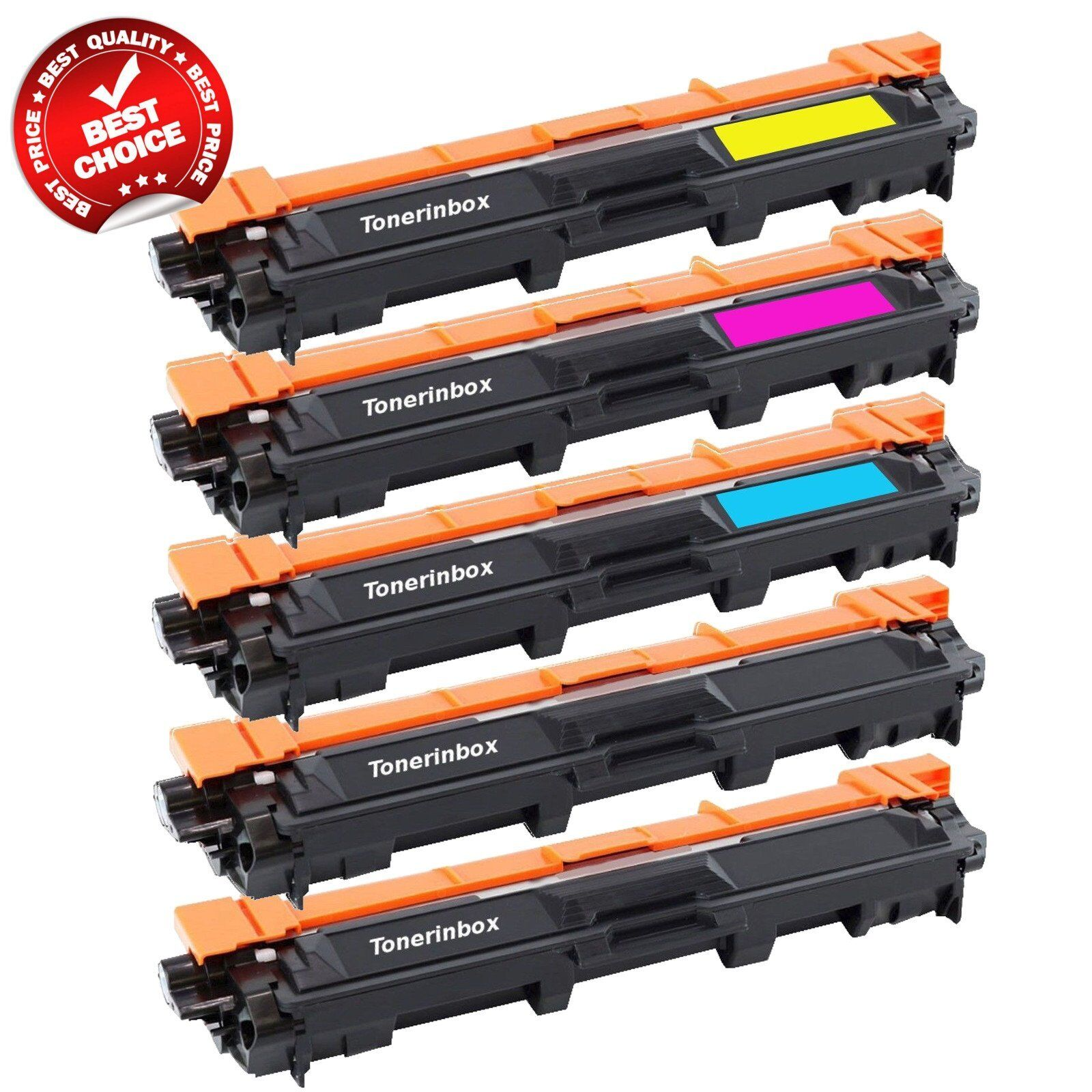 MFC-9340CDW 5 Pk TN221 BK TN225 Color Toner For Brother MFC-9130CW MFC-9330CDW