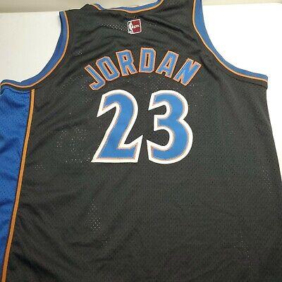 Majestic Hardwood Classics NBA Michael Jordan Wizards Black Blue Jersey XXL 2XL