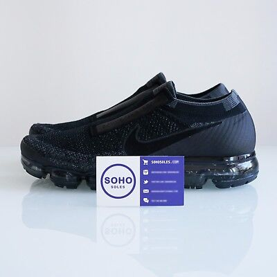 CDG x Nike Air Vapormax FK Triple Black Laceless 924501-001 Comme Des Garcons