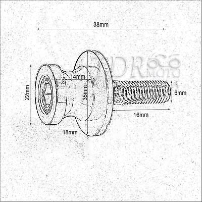 6mm Swingarm Spools Slider Silver for Aprilia RSV4 RS125