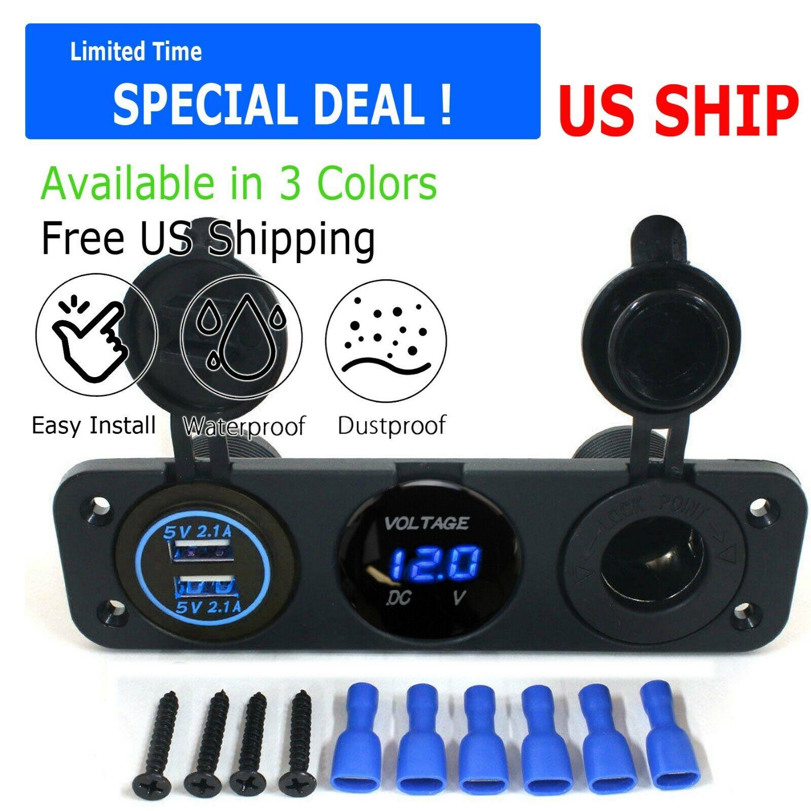 3.1A USB Dual Ports Car Cigarette Lighter Charger 12V/24V Di