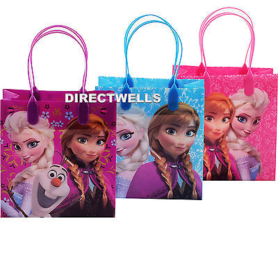 Disney Frozen Authentic Licensed Reusable Small Party Favor Goodie 12 Bags  - Frozen Goodie Bags