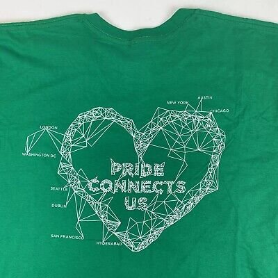 FACEBOOK Employee Gay Pride Connects Us T-Shirt Mens 2XL XXL LGBTQ for sale  Shipping to Canada