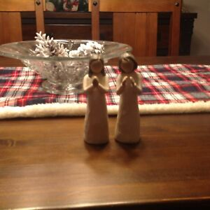 Two willow tree praying sisters