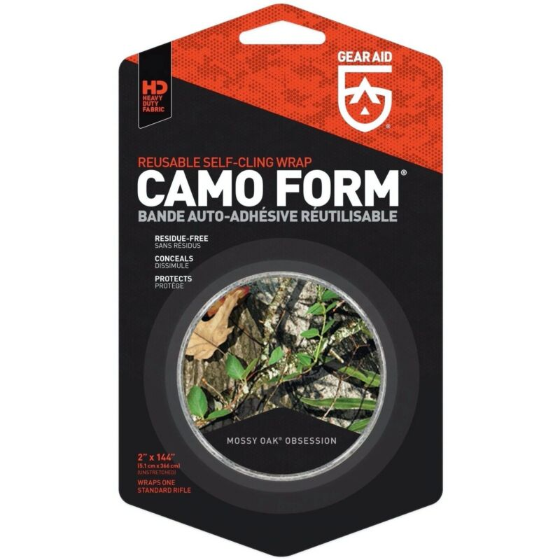 Gear Aid Camo Form Reusable Fabric Wrap Mossy Oak Obsession 4 Yards Self Cling