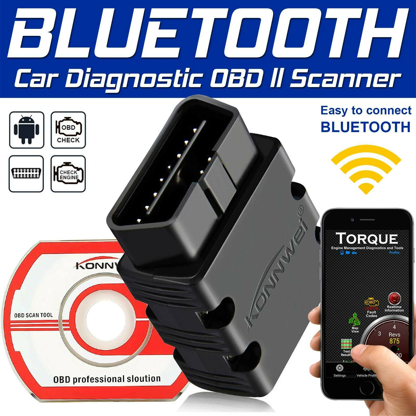 KW808 Car Scanner Tool EOBD OBD2 Automotive Diagnostic Engin