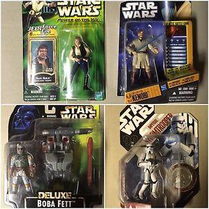 Various Star Wars figures toys