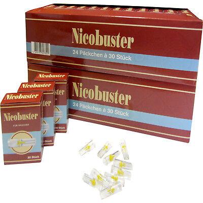 Nicobuster Zigarettenfilter Zigarettenspitzen 2xOriginal Karton mit 1440 Stück
