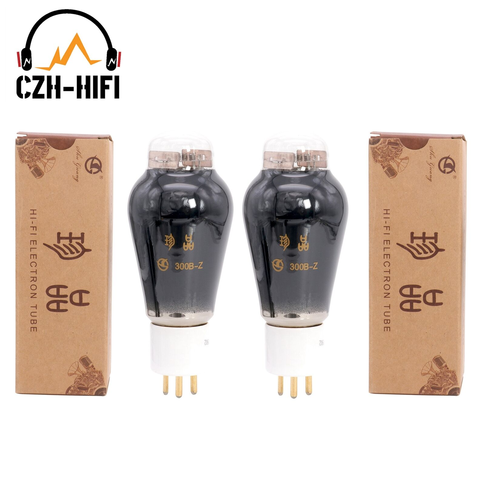 2 PCs Brand NEW 1 Matched pair Shuguang Treasure 300B-Z Audio Valve tubes 300B