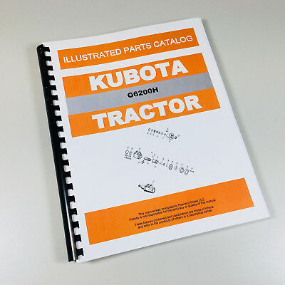 Kubota G6200h Tractor Parts Assembly Manual Catalog Exploded Views Numbers